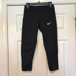 Nike Dri Fit Racer Running Crop Pants Size Small